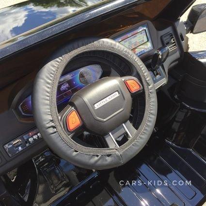 Электромобиль Range Rover XMX601 4WD 2-х местный, черный (2 усиленных АКБ, колеса резина, сиденье кожа, пульт, музыка)