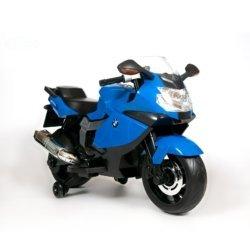 Детский электромотоцикл BMW K1300S 12V - Z283 синий (колеса резина, музыка)